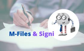 M-Files nyní umožňují elektronický podpis dokumentů